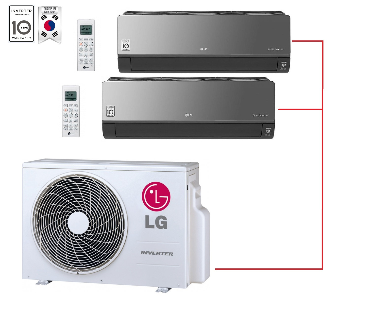 LG AM09BP.NSJR0 x 2 / MU2M17.UL4R0 (Black)